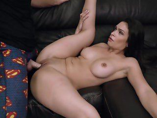 Hot Latina Mom always has time to bond with son