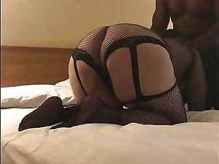 Thick BBW MILF In Black Lingerie Gets Black Cock