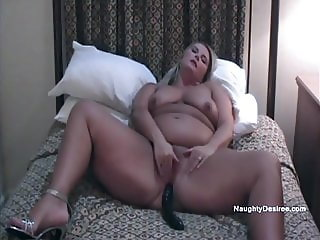 Big ass Blonde Desiree self service orgasm