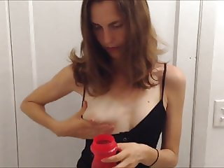 Small Tits Hand Pumping Milk