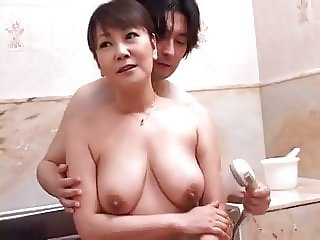 pretty mom with saggy breasts is a temptation at home