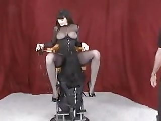 Sitting in the creampie eating chair