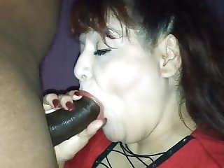 Rae Lynn sucking and fucking a BBC part 1