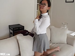 Gorgeous Asian Schoolgirl Teen Harriet Sugarcookie Solo