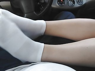 sexy white socks foot tease!!!