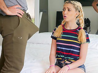 SPYFAM Kinky step daughter tastes big dick step dad