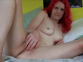 Daisy strip and pussy play