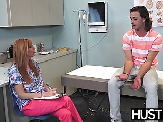 Redhaired nurse Lauren Phillips anally plowed passionately