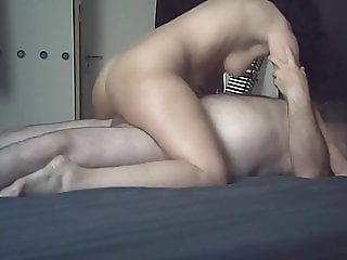 HOMEMADE Delightful ride with lovely tiny-boobs masseuse