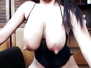 Girl saggy tits milk solo