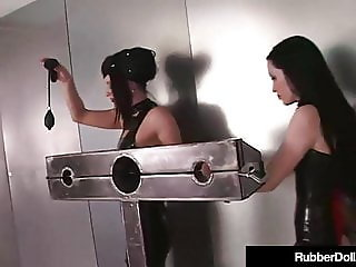 RubberDoll Chains Slave girl Diabolica & Punishes Her Bad!