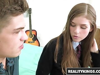 Lara Brookes - Schoolgirl gets pounded in her cute uniform