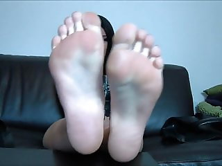 She wants you to worship her smelly feet