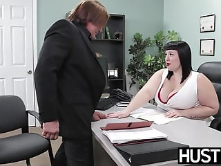 Angelic BBW Alexxis Allure fed cum after big cock hammering