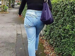 Long walk with Teen in Blue Jeans