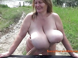 Mysterious big tit fondling hands