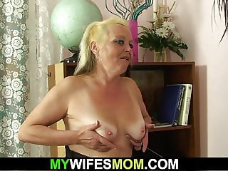 Older mom inlaw taboo photosession