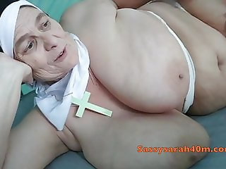 Naughty Nun with massive saggers