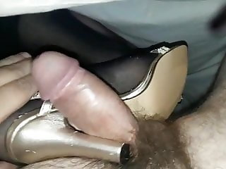 Black nylon shoejob