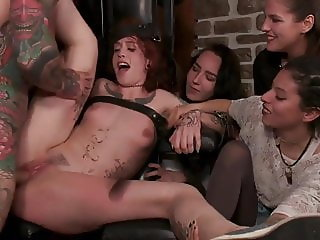 Lilyan Red is milked, tormented, and fucked hard by Mona