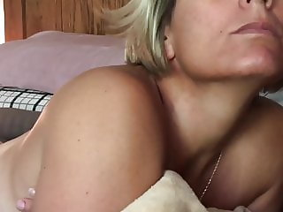 Wife lets a new man give her a facial