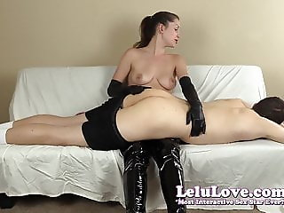 FemDom spanking his ass with my hairbrush hands and riding c