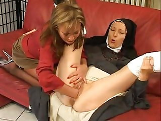 Mature fisting nun