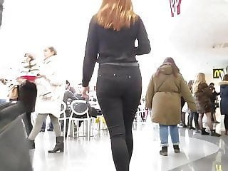 Young redhead woman with hot ass