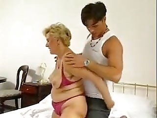 fucks mother-in-law on the wife's bed