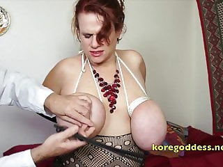 Pervy Doctor giving his patient extreme boob bondage