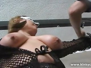 Slave punished for the orgasm