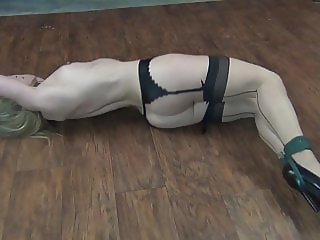 Fit Blonde's Floor Stretch