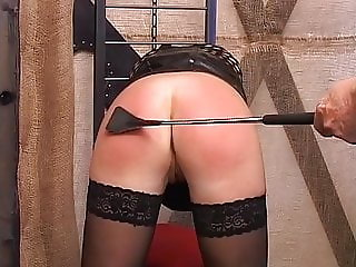 Blonde slut enjoys getting punished by her master