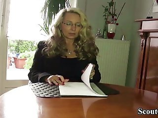 GERMAN BIG NATURAL TITS MILF seduce to FUCK by Neigbor