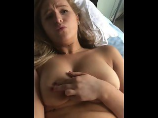 College girlfriend cums so hard