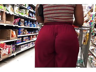 Natural Booty Ebony in Soft Red Pants