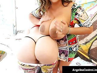 Hot BBWs Angelina Castro & Virgo Peridot Share A Black Cock!