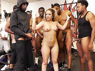 Carmen Valentina Gets Gangbanged By Big Black Cocks