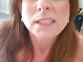 Slut Mom Rides Cock and Moans