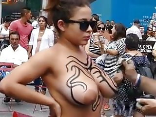 LATINA WITH HUGE TITS NOT AFRAID TO BE NAKED IN PUBLIC