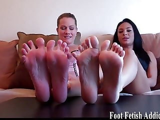 You will love worshiping our perfect feet