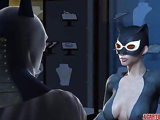 Big dick Batman fucks hot ass Catwoman