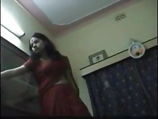 Sexy beautiful desi wife in saree and couple