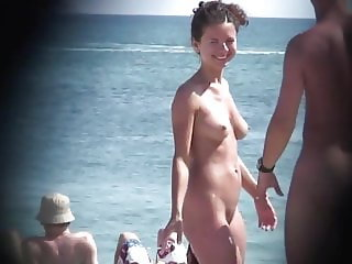 Super Cute Babe at Nude Beach