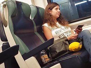Cute girl nice books on the train