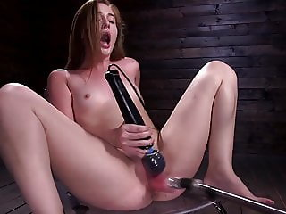 Machine Fucking the 18 Year old Newcomer