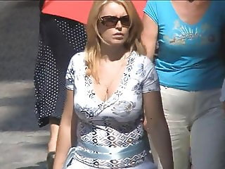 Big tits on the street - 010
