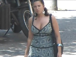 Big tits on the street - 008