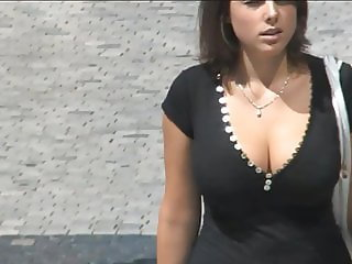 Big tits on the street - 007