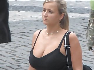 Big tits on the street - 004